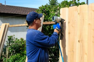 building a fence – property maintenance